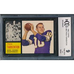 1962 Topps #90 Fran Tarkenton SP RC (BCCG 9)