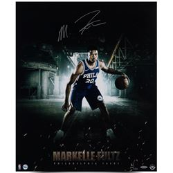 """Markelle Fultz Signed LE """"Work Ethic """" 76ers 20x24 Photo (UDA COA)"""
