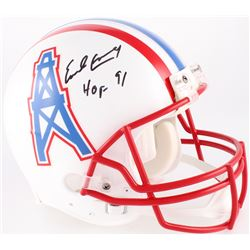 """Earl Campbell Signed Oilers Full-Size Authentic On-Field Throwback Helmet Inscribed """"HOF 91"""" (JSA CO"""