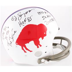 O.J. Simpson Signed Bills Throwback Suspension Full-Size Helmet With Multiple Inscriptions (JSA COA)