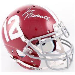 Joe Namath Signed Alabama Crimson Tide Full-Size Authentic On Field Helmet (Radtke COA  Namath Holog