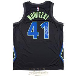 Dirk Nowitzki Signed Mavericks Nike City Edition Jersey (Panini COA)