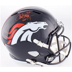 "Terrell Davis Signed Broncos Full-Size Speed Helmet Inscirbed ""HOF 17"" (JSA COA)"
