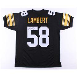 "Jack Lambert Signed Steelers Jersey Inscribed ""HOF 90"" (JSA COA)"