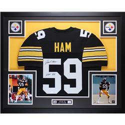"""Jack Ham Signed Steelers 35"""" x 43"""" Custom Framed Jersey Inscribed """"HOF 88"""" (JSA COA)"""