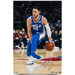 "Ben Simmons Signed LE 76ers ""Handle"" 16x24 Photo (UDA COA)"