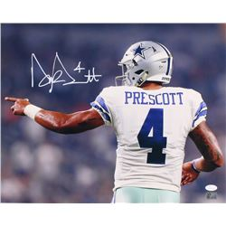 Dak Prescott Signed Cowboys 16x20 Photo (JSA COA  Prescott Hologram)