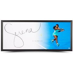"Serena Williams Signed ""Backhand"" 20x46 Photo Framed Display (UDA COA)"
