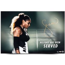 """Serena Williams Signed LE """"History Has Been Served"""" 20x24 Photo  (UDA COA)"""