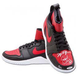 Serena Williams  Michael Jordan Signed Pair of (2) LE Nike Court Flare Air Jordan1 Shoes (UDA COA)