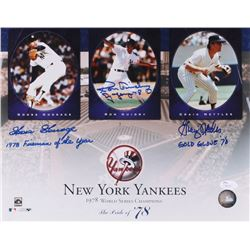 New York Yankees 1978 World Series Champions 11x14 Photo Signed by Goose Gossage, Ron Guidry  Graig