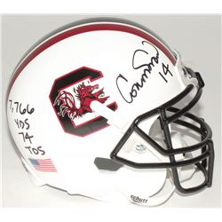 "Connor Shaw Signed South Carolina Gamecocks Mini-Helmet Inscribed ""7,766 Yds 74 Tds"" (Radtke COA)"