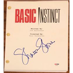 "Sharon Stone Signed ""Basic Instinct"" Full Movie Script (PSA COA)"
