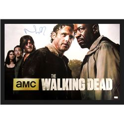 "Norman Reedus Signed ""The Walking Dead"" 42x49 Custom Framed Poster Display (Radtke COA)"
