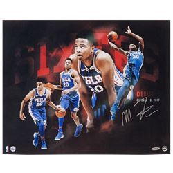 "Markelle Fultz Signed ""Opening Night"" 76ers 16x20 Photo (UDA COA)"