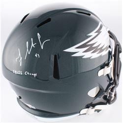 "Fletcher Cox Signed Eagles Full-Size Speed Helmet Inscribed ""SB LII Champs"" (Fanatics Hologram)"