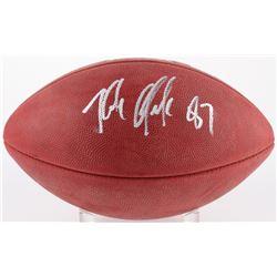 """Rob Gronkowski Signed Super Bowl XLIX """"The Duke"""" Logo Football (Radtke COA)"""