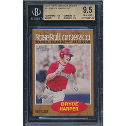 2011 Topps Heritage Minors #211 Bryce Harper SP (BGS 9.5)