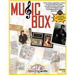 """MUSIC BOX"" - Sportscards.com Music Memorabilia Mystery Box - Signed Albums  Photos, Tickets  Mo"