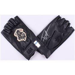 """Tommy Flanagan Signed """"Sons of Anarchy"""" Biker Gloves (Radtke COA)"""