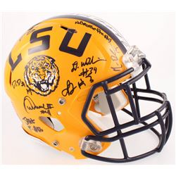 2016 LSU Tigers Full-Size Authentic On-Field Team Issued Speed Helmet Signed by (25) Including Leona
