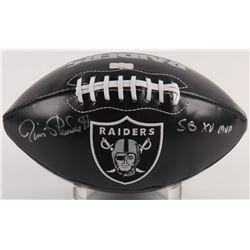 "Jim Plunkett Signed Raiders Logo Football Inscribed ""SB XV MVP"" (Radtke COA)"