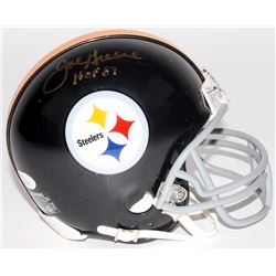 "Joe Greene Signed Steelers Throwback Mini Helmet Inscribed ""HOF 87"" (JSA COA)"