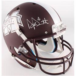 Dak Prescott Signed Mississippi State Bulldogs Full-Size Custom Matte Brown Helmet (Radtke COA)