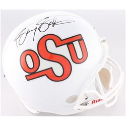 Barry Sanders Signed Oklahoma State Cowboys Full-Size Helmet (Radtke COA  Schwartz Hologram)