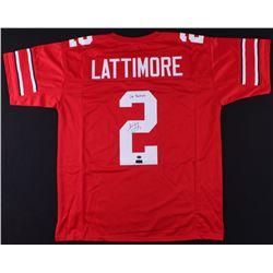 "Marshon Lattimore Signed Ohio State Buckeyes Jersey Inscribed ""Go Buckeyes"" (Radtke COA  Lattimore H"