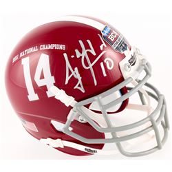 AJ McCarron Signed Alabama 2011 National Champions Mini Helmet (JSA COA)