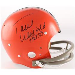 """Paul Warfield Signed Browns Throwback TK Suspension Full-Size Helmet Inscribed """"HOF 83"""" (Radtke COA)"""