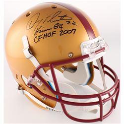 "Doug Flutie Signed Boston College Eagles Full-Size Helmet Inscribed ""Heisman 84""  ""CHHOF 2007"" (Radt"