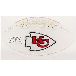 Kareem Hunt Signed Chiefs Logo Football (Radtke Hologram)