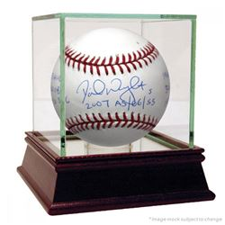 David Wright Signed Baseball with Multiple Inscriptions  High Quality Display Case (Steiner COA)