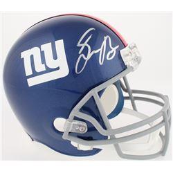 Saquon Barkley Signed Giants Full-Size Helmet (Panini COA)