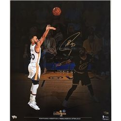 Stephen Curry Signed Warriors 2017 NBA Championship 20x24 Photo (Fanatics Hologram)