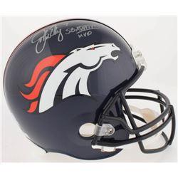"John Elway Signed Broncos Full-Size Helmet Inscribed ""SB XXXIII MVP"" (Elway Hologram  Radtke COA)"