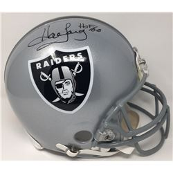 """Howie Long Signed Raiders Limited Edition Full-Size Authentic On-Field Helmet Inscribed """"HOF 00"""" (St"""