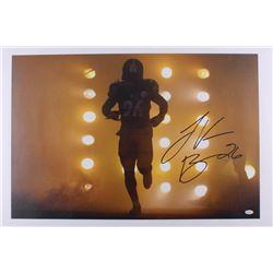 Le'Veon Bell Signed Steelers 20x30 Canvas (JSA COA)