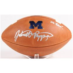 """Jabrill Peppers Signed Official College Football Playoff Game Ball Inscribed """"Go Blue!"""" (JSA COA)"""