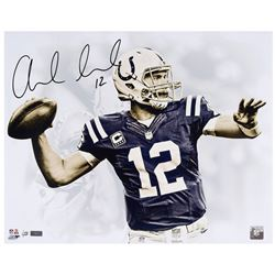 "Andrew Luck Signed Colts ""White Out"" 16x20 Limited Edition Photo (Panini COA)"