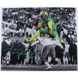 "Marcus Mariota Signed Oregon Ducks 20x24 Limited Edition Photo Inscribed ""Heisman '14"" (Steiner COA)"