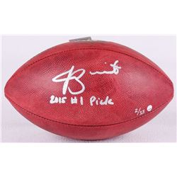 """Jameis Winston Signed Limited Edition """"The Duke"""" Official NFL Game Ball Inscribed """"2015 #1 Pick"""" (St"""