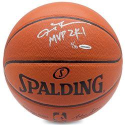 """Allen Iverson Signed Limited Edition Basketball Inscribed """"MVP 2K1"""" (UDA COA)"""