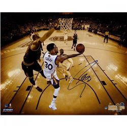 """Stephen Curry Signed Warriors """"Layup vs. LeBron"""" 20x24 Limited Edition Photo (Steiner COA)"""