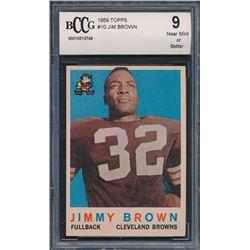 1959 Topps #10 Jim Brown (BCCG 9)