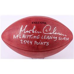 """Morten Anderson Signed """"The Duke"""" Official NFL Game Ball Inscribed """"2544 Points""""  """"NFL All Time Lead"""