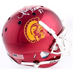 "Marcus Allen Signed USC Trojans Full-Size Authentic On-Field Chrome Helmet Inscribed ""Heisman 81"" (R"
