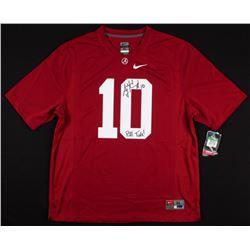 "AJ McCarron Signed Alabama Crimson Tide Jersey Inscribed ""Roll Tide!"" (Radtke COA)"